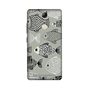 Lenovo Vibe K5 Note Perfect fit Matte finishing Motif Pattern Mobile Backcover designed by Aaranis (Blue) Perfect fit Matte finishing Motif Pattern Mobile Backcover designed by Aaranis (Grey)
