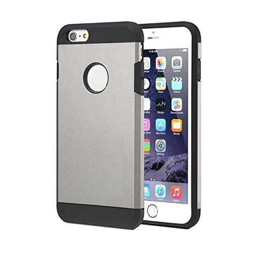 iPhone 6s Case, HotSees Tough Armor Superior Protection Case for iPhone 6 & 6s , Dual Layer Protection, Heavy Duty, 4.7 Inch (Metallic)