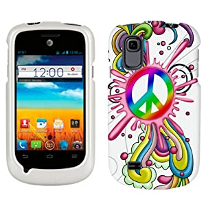 ZTE Avail 2 Peace Pop on White Phone Case Cover