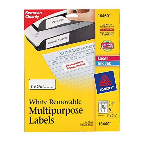 avery-removable-multipurpose-labels-1-x-2625-white-pack-of-150-16460