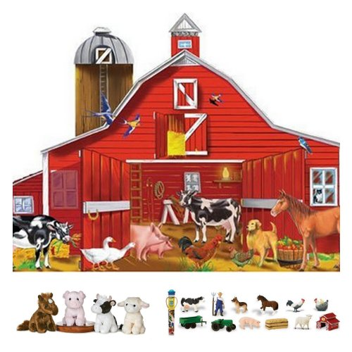 Cheap Bundles of Fun Melissa & Doug Farm Friends Floor Puzzle with Down of the Farm Toob Bundle of 3 Items with **BONUS** by Bundles of Fun (B0051V9P68)