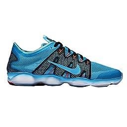 Nike Women\'s Wmns Air Zoom Fit Agility 2, BLUE LAGOON/BL LGN-CP-BRIGHT CRIMSON, 9 US