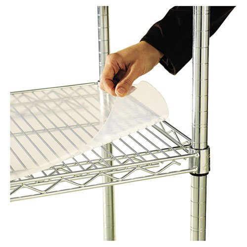 Alera Sw59Sl4818 - Shelf Liners For Wire Shelving, 48W X 18D, Clear Plastic, 4/Pack