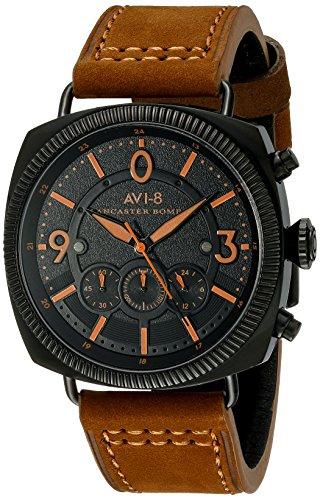 AVI-8 Men's AV-4022-07 Lancaster Bomber Analog Display Japanese Quartz Brown Watch