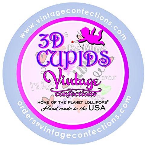 Vintage Confections 3d Cupid Valentine Lollipops