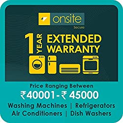 Onsite 1-year extended warranty for Large Appliance (Rs. 40001 to < 45000)