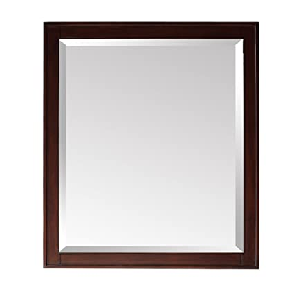 Madison Mirror in Light Espresso Finish, 24-Inch by 32-Inch