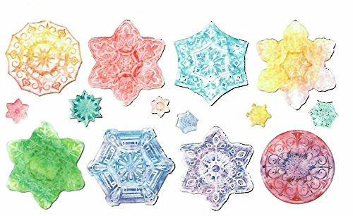 Embossed Paper - Snowflakes Collection (Package of 24 Sheets) - 1