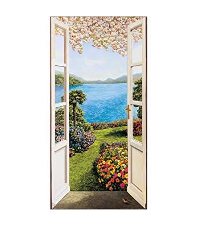 ArtopWeb Panel Decorativo Del Missier Giardino Fiorito 50x100 cm