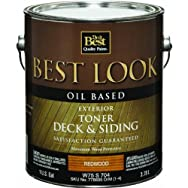 Best Look Oil-Based Exterior Deck Stain & Siding Toner-OIL REDWOOD DECK TONER