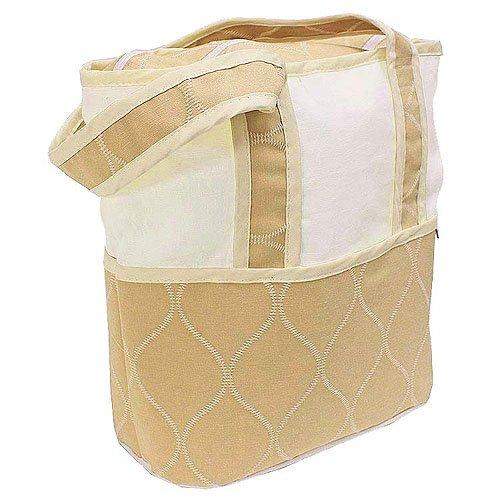 Hoohobbers Tote Diaper Bag, Ecru