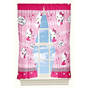 Hello Kitty Sweet And Sassy Window Drapes from jay franco