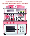 Kids Wooden Kitchen Pretend Toy