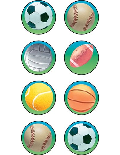 Teacher Created Resources Sports 2 Mini Stickers, Multi Color (1993) - 1