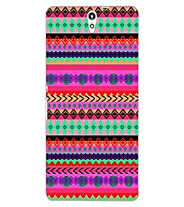 ColourCraft Tribal Pattern Design Back Case Cover for SONY XPERIA C5 ULTRA DUAL