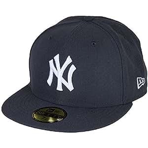 New Era NY Yankees & L.A. Dodgers MLB Basic Cap (6 7/8, 91194 graphite/white)