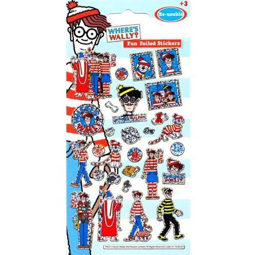 wheres-wally-foil-sticker-strip-by-party-bags-2-go
