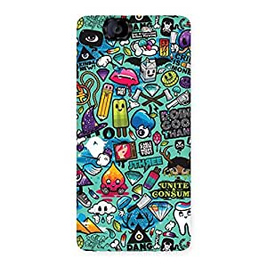 Magnificent Premier candy Multicolor Back Case Cover for Canvas Knight A350