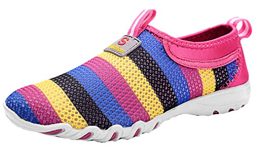 Legend E.C Women's Lesliee Colorful Breathable Flat Beach Mesh Shoes Sandals-new Inventory