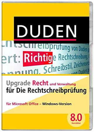 DUDEN Die Rechtschreibprüfung Upgrade Recht und Verwaltung, Korrektor 8.0