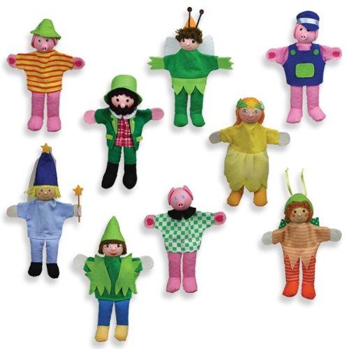 Andreu Toys 13 cm Títeres nueve caracteres con los dedos (Multi-Color)