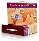 Tee-Geschenkbox 'Tee-Entdecker-Weltreise' originelle Geschenkidee mit 9 Teesorten (Rooibos, Grüner...