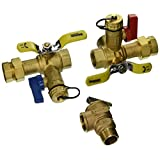 Webstone 44443WPR 3/4-Inch IPS Isolator EXP E2 Tankless Water Heater Service Valve Kit with Clean Brass Construction