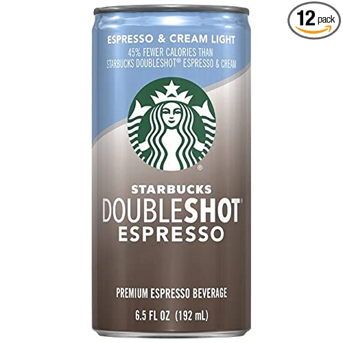 12-Pack Starbucks 6.5 Ounce Espresso + Cream Light Doubleshot
