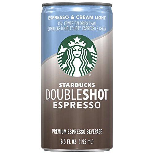Starbucks Doubleshot, Espresso + Cream Light, 6.5 Ounce, (Pack of 12)