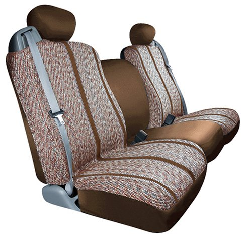 Saddleman Custom Made Front Bucket Seat Covers - Saddle Blanket Fabric (Brown)