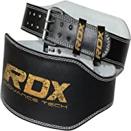 Top Authentic RDX Leather Weight Lifting 6' Belt Back Support Strap Gym Power Training Fitness Price-image