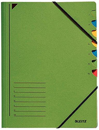 Leitz 3907-55 - Carpeta con 7 separadores, color verde