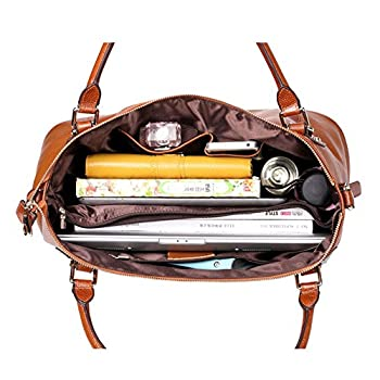 Kattee Vintage Genuine Soft Leather Large Tote Shoulder Bag 2