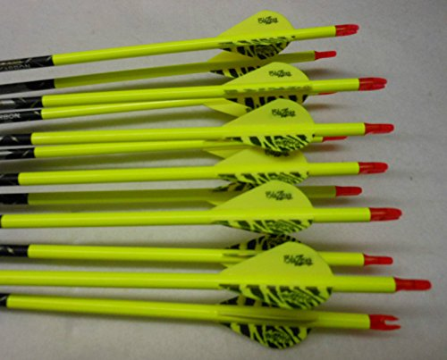 Carbon Express Predator II 6075 Carbon Arrows W/Blazer Vanes Pathfinder Wraps 1 Dz. (Carbon Express 6075 compare prices)