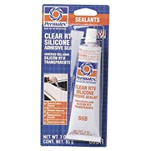 Permatex 80050 Clear RTV Silicone Adhesive Sealant, 3 oz.