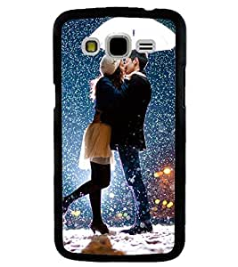 Printvisa Romantic Couple In Snowfall Back Case Cover for Samsung Galaxy J7::Samsung Galaxy J7 J700F