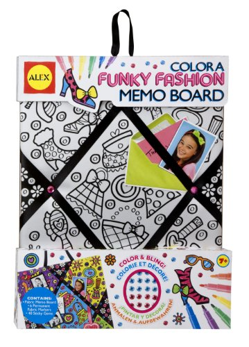 ALEX Toys Color a Bag & Accessories Color A Memo Board Funky Fashion
