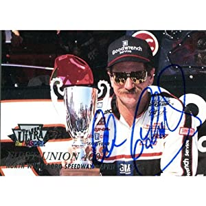 Dale Earnhardt Sr. Autographed 1996 Fleer Card by Hollywood Collectibles