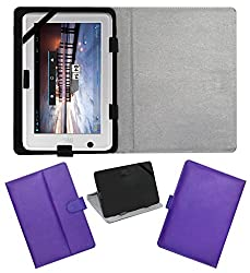 ACM LEATHER FLIP FLAP TABLET HOLDER CARRY CASE STAND COVER FOR HCL ME U1 PURPLE