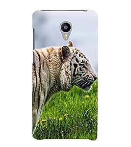 White Tiger 3D Hard Polycarbonate Designer Back Case Cover for Meizu M2