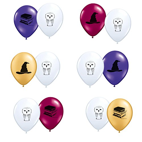 Harry Potter Theme Latex Balloons 12ct (Harry Potter Ring Glasses compare prices)