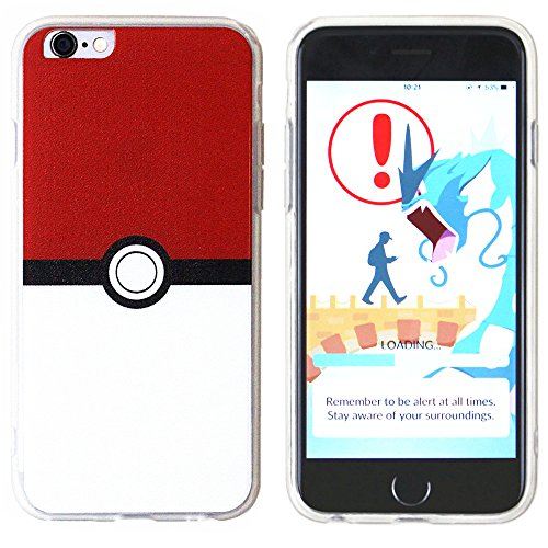 BRILA® iPhone 6 6s pokemon case, poke ball style case for iPhone 6 6s 4.7, iPhone 6 6s pokemon go case