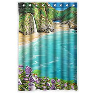 sea beach theme bath shower curtain 48x72 with