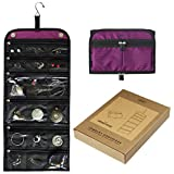 JAMIE Travel Jewelry Organizer - Portable Design (Home & Travel) - Magnetic Trifold Holder - INSTANT Visual