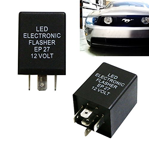 iJDMTOY (1) 5-Pin EP27 FL27 Electronic LED Flasher Relay Fix For LED Turn Signal Bulbs Hyper Flash Fix (Ford Relay compare prices)