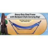 High-Grade Foldable Hammock (Blue) Folding Hammock with Carrying Bag