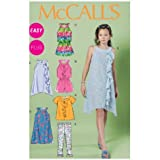 McCall's Patterns M6501 Girls'/Girls' Plus Top, Rompers, Dresses and Leggings, Size GIRL (7-8-10-12-14)