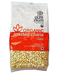 Pure & Sure Organic Roasted Channa, 500g