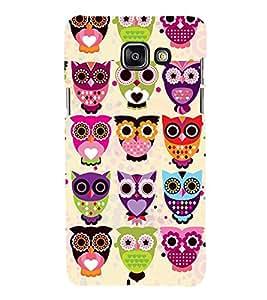 Colourful Owls Pattern 3D Hard Polycarbonate Designer Back Case Cover for Samsung Galaxy A5 (2016) :: Samsung Galaxy A5 2016 Duos :: Samsung Galaxy A5 2016 A510F A510M A510FD A5100 A510Y :: Samsung Galaxy A5 A510 2016 Edition