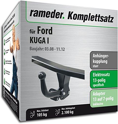 RAMEDER-Komplettsatz-Anhngerkupplung-starr-13pol-Elektrik-fr-Ford-KUGA-I-113936-07367-1